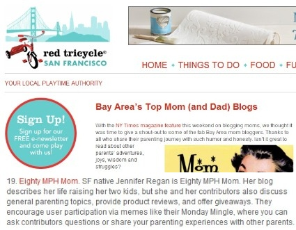 Popular Bay Area Bloggers, Popular California Mom Blogs