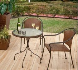 Hayneedle All-Weather Wicker Bistro Set (table and chairs) Review