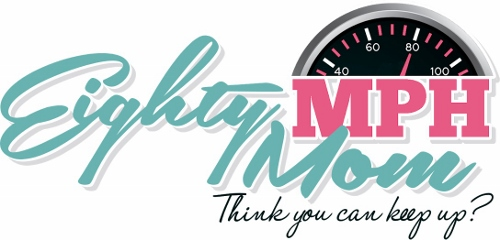 Eighty MPH Mom Logo, Speedometer