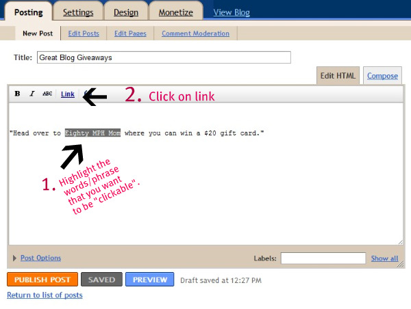 How to link to a website