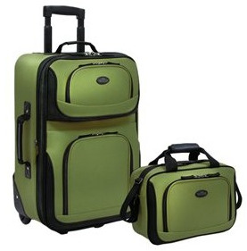 Rolling expandable carry-on luggage