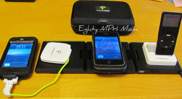 Powermat portable charging station, portable iPhone chargers