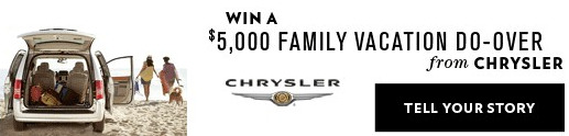 Chrysler Do Over Vacation contest on Facebook