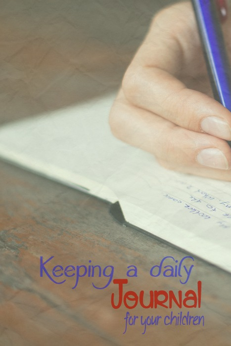 keeping a journal for your child