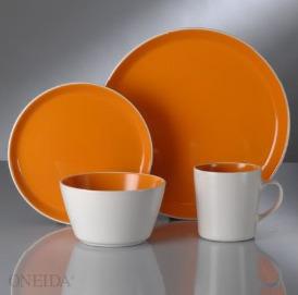 Oneida Color Burst dishware,colorful plates,microwaveable safe stoneware