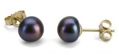 black freshwater pearls,pearl earrings,discounted pearl earrings,Pure Pearls