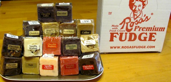 maple fudge, coffee fudge, chocolate gifts, pina colada fudge