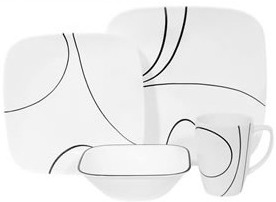 Gift Guide: Corelle Square Simple Lines 16-pc Set Review