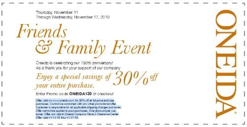 Oneida discount code
