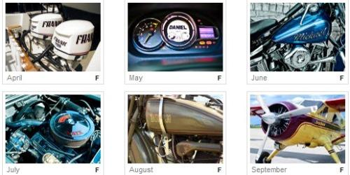 personalized calendars,unique calendars,calendars with engines