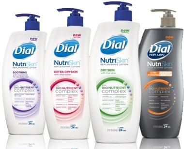 lotions with Bio Nutrients, Dial NutriSkin Lotions