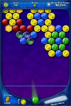 iphone-app-shooting-bubbles, colorful-iphone-apps