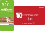 Sallie Mae – $10 Overstock & $10 Petsmart Gift Cards Giveaway 5/12