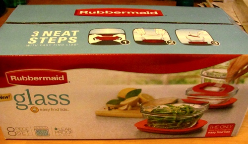Rubbermaid Glass Food Storage Containers with Easy Find Lids