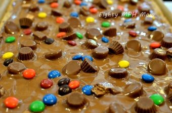 Candy Showers Cookie Bar