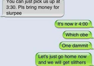 I really shouldn't text
