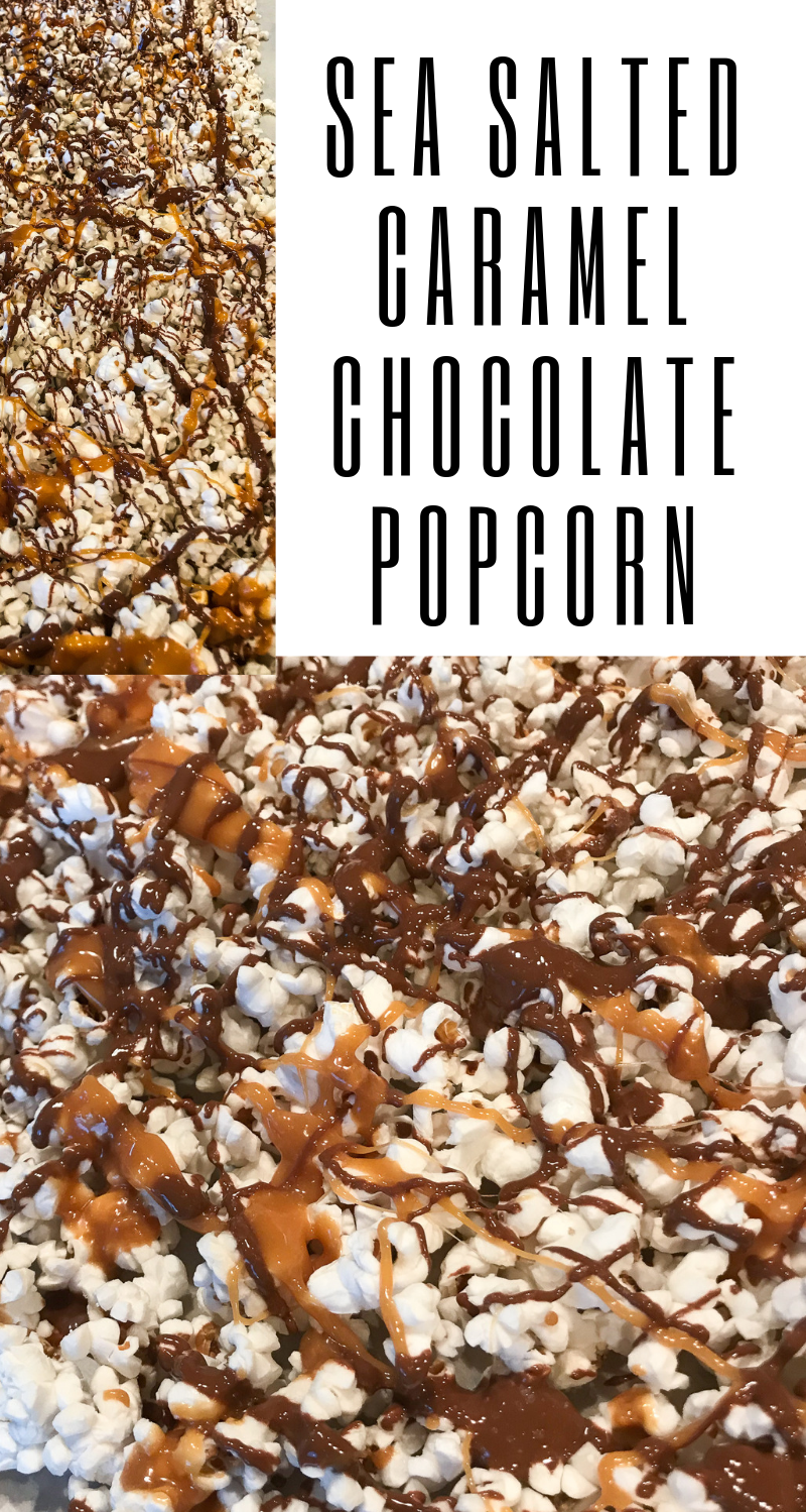 Sea Salted Caramel Chocolate Popcorn