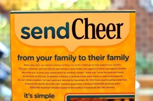 cheerios send cheer to military families