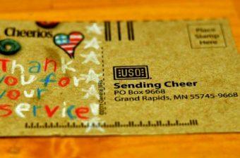 Cheerios Send Cheer postcard for military families #CBias