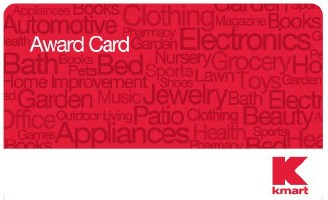 Kmart Awards – Get a $5 award card when you spend $50 or more!