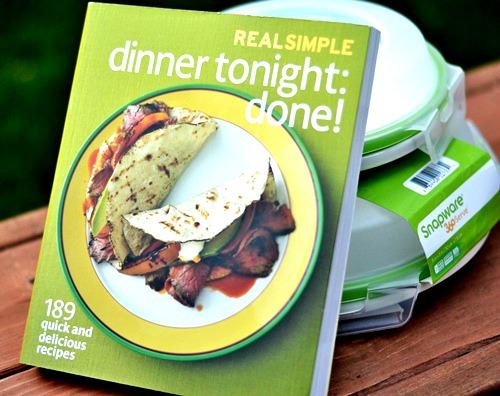 Real Simple Dinner Tonight cookbook