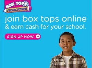 Help your child's school (or any participating school) for free with Box Tops for Education!