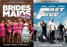 Bridesmaids and Fast Five DVD Giveaway and Movies on Demand new releases