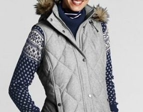 Lands' End Women's Diamond Quilting Wool Down Vest Review