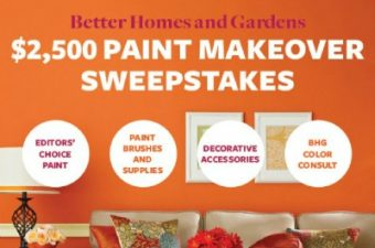 Fun Better Homes and Gardens Paint Sweepstakes – have you entered?