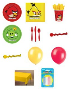 angry bird party supplies