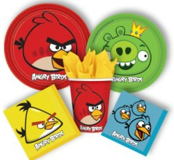 angry bird paper plates