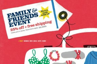 Lands' End Family and Friends Sale – 25% off!