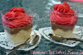 Valentine's Red Velvet Mousse Cups