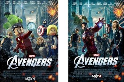 avengers lego's poster