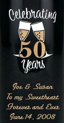 personalized anniversary wine bottles