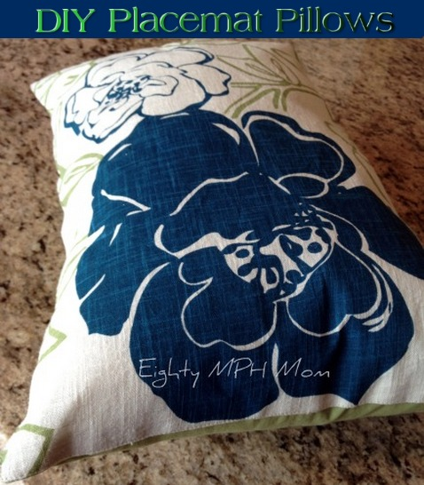 placemat,pillows,DIY,how to,home decor