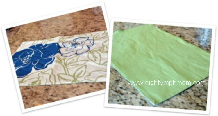 Two sided placemat for making throw pillows