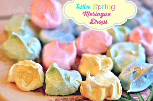 Festive Spring Meringue Drops!