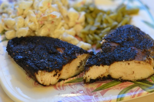 chicken with dry rub