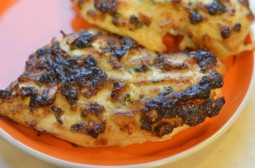 spinach almond chicken