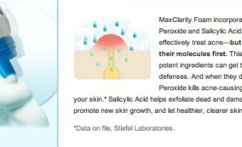 max clarity acne treatment