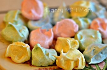 colorful meringue cookies