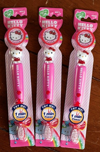 hello kitty timer toothbrushes,light up toothbrush