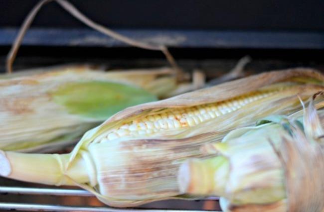 charred corn on cob