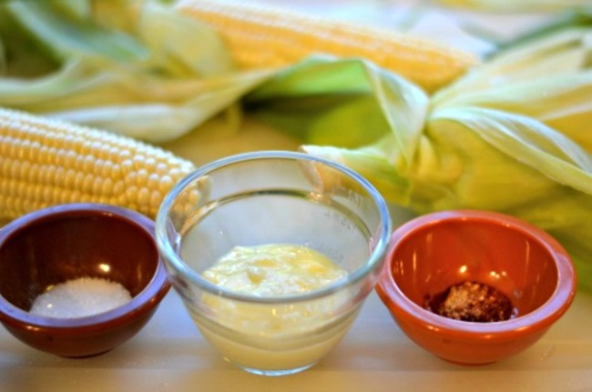 garlic corn on cob ingredients