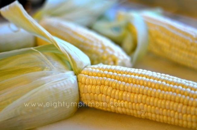 grilled garlic butter corn
