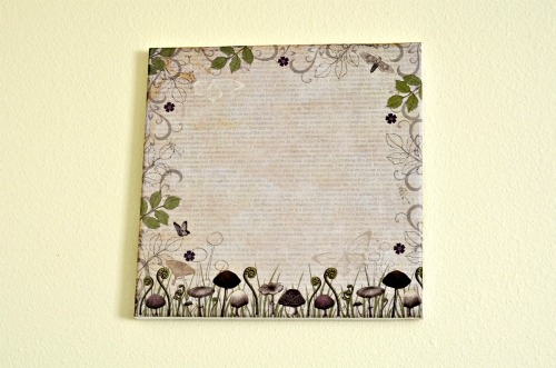 decoupage canvas