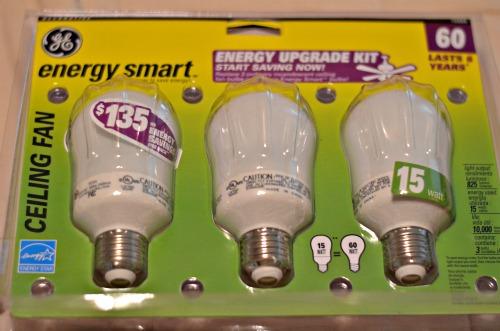 energy efficient lightbulbs