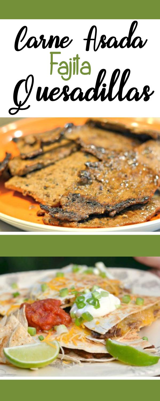 Carne Asada Fajita Quesadillas
