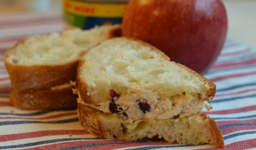 Pine Nut and Cranberry Picnic Chicken Salad Sandwiches